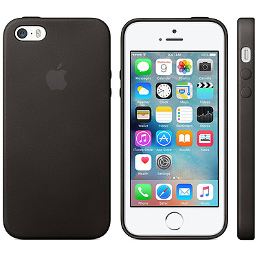 Apple Coque en cuir Noir iPhone 5s Coque en cuir pour Apple iPhone 5s