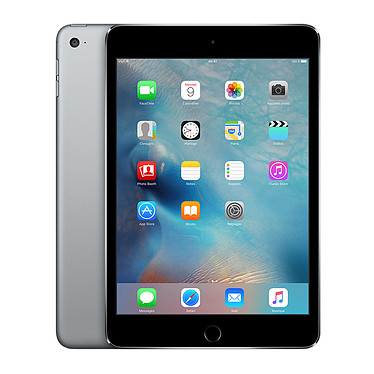"Apple iPad mini 4 avec écran Retina Wi-Fi 16 Go Gris sidéral Tablette Internet - Apple A8 1.5 GHz 1 Go 16 Go 7.9"" LED tactile Wi-Fi ac / Bluetooth Webcam iOS 9"