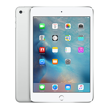 "Apple iPad mini 4 avec écran Retina Wi-Fi 64 Go Argent Tablette Internet - Apple A8 1.5 GHz 1 Go 64 Go 7.9"" LED tactile Wi-Fi ac / Bluetooth Webcam iOS 9"