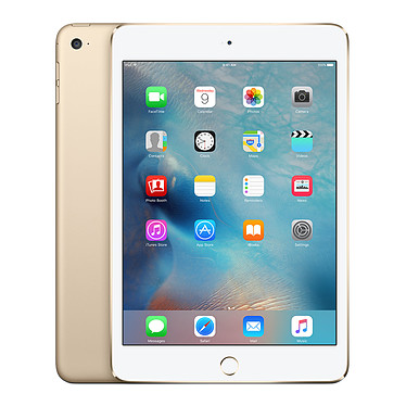"Apple iPad mini 4 avec écran Retina Wi-Fi 128 Go Or Tablette Internet - Apple A8 1.5 GHz 1 Go 128 Go 7.9"" LED tactile Wi-Fi ac / Bluetooth Webcam iOS 9"