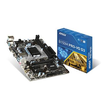 MSI B150M PRO-VD D3 Carte mère Micro ATX Socket 1151 Intel B150 Express - SATA 6Gb/s - USB 3.0 -  DDR3 - 1x PCI-Express 3.0 16x