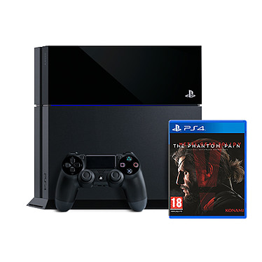 Sony PlayStation 4 + MGS V : The Phantom Pain Console de jeux-vidéo nouvelle génération avec disque dur 500 Go + jeu