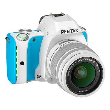 """Pentax K-S1 Blanc turquoise + Objectif DAL 18-55 mm Réflex Numérique 20 MP - Ecran 3"""" - Vidéo Full HD + Objectif DA 18-55 mm f/3,5-5,6 AL"""