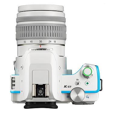 Pentax K-S1 Blanc turquoise + Objectif DAL 18-55 mm pas cher