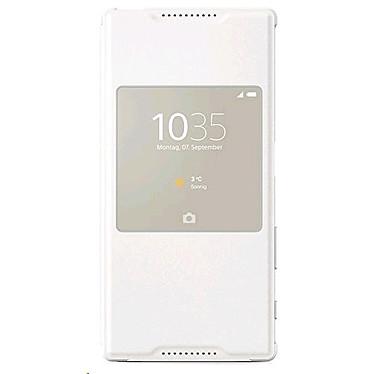 Sony Style Up Blanc Xperia Z5 Etui folio avec fenêtre pour Sony Xperia Z5