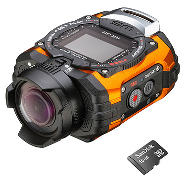 Ricoh WG-M1 Orange + micro SDHC 16 Go