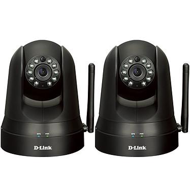 D-Link DCS-5009L x 2 Pack de 2 caméras réseau panoramique jour/nuit (Ethernet, Wi-Fi b/g/n) LED infrarouges