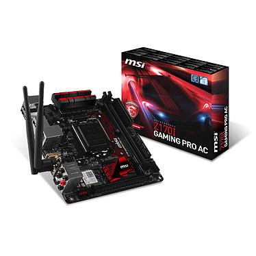 MSI Z170I GAMING PRO AC Carte mère Mini-ITX Socket 1151 Intel Z170 Express - SATA 6Gb/s + SATA Express + M.2 - USB 3.1 - 1x PCI-Express 3.0 16x - Wi-Fi AC et Bluetooth 4.2