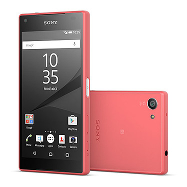 "Sony Xperia Z5 Compact Corail Smartphone 4G-LTE Advanced IP68 - Snapdragon 810 8-Core 2 GHz - RAM 2 Go - Ecran tactile 4.6"" 720 x 1280 - 32 Go - NFC/Bluetooth 4.1 - 2700 mAh - Android 5.1"