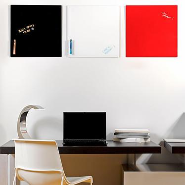 Bi-Office Tableau Mémo en Verre Magnétique Noir pas cher
