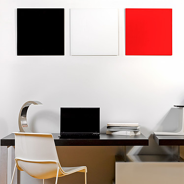 Bi-Office Tableau Mémo en Verre Magnétique Rouge pas cher