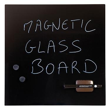 Bi-Office Tableau Mémo en Verre Magnétique Noir