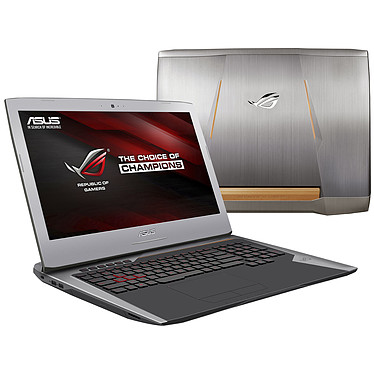 "ASUS G752VY-GC067T Intel Core i7-6700HQ 16 Go SSD 256 Go + HDD 1 To 17.3"" LED Full HD G-SYNC NVIDIA GeForce GTX 980M 8 Go Graveur DVD Wi-Fi AC/Bluetooth Webcam Windows 10 Famille 64 bits (garantie constructeur 2 ans)"