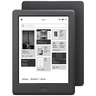 Kobo Glo HD Noir Liseuse eBook tactile de 6""