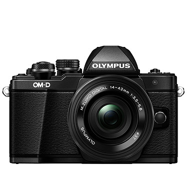 "Olympus E-M10 MK II Noir + 14-42mm pancake Appareil photo hybride 16.1 MP - Ecran tactile inclinable 3"" - Vidéo Full HD - Stabilisation 5 axes - Wi-Fi"