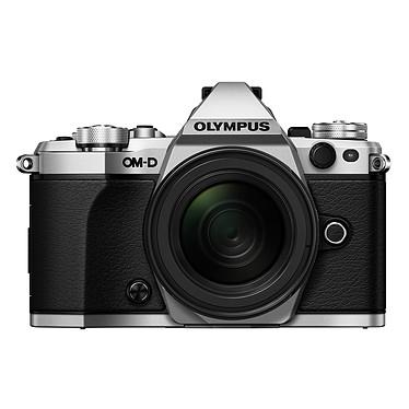 "Olympus E-M5 MK II Argent + M.ZUIKO DIGITAL ED 12-50mm Appareil photo hybride 16.1 MP - Ecran LCD tactile orientable 3"" - Vidéo Full HD - Stabilisation 5 axes - Wi-Fi + Objectif ED 12-50mm 1:3.5-6.3 EZ"
