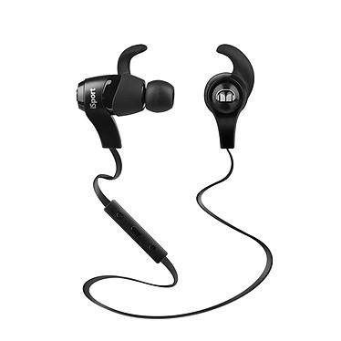 Monster iSport Wireless Noir Écouteurs intra-auriculaires sportifs Bluetooth avec télécommande et micro compatibles iOS