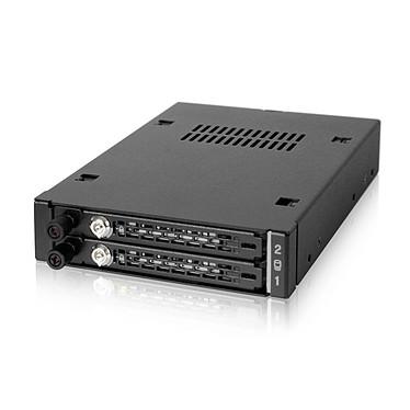 """ICY DOCK MB492SKL-B Rack pour deux disques durs 2""""1/2 SAS / SATA avec clé de verrouillage (noir)"""