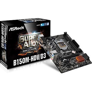 ASRock B150M-HDV/D3 Carte mère Micro ATX Socket 1151 Intel B150 Express - SATA 6Gb/s - SATA Express - USB 3.0 - DDR3 - 1x PCI-Express 3.0 16x