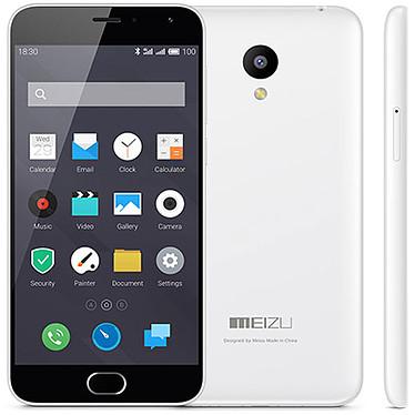"""Meizu M2 mini 16 Go Blanc Smartphone 4G-LTE Dual SIM avec écran tactile HD 5"""" sous Android 5.1"""