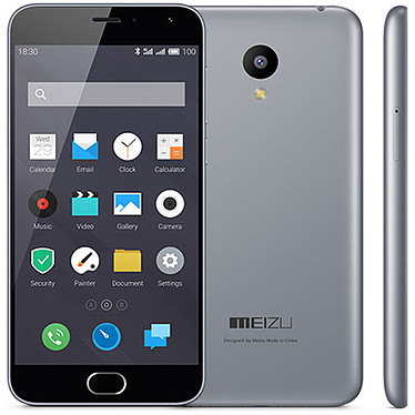 "Meizu M2 mini 16 Go Gris Smartphone 4G-LTE Dual SIM - ARM Cortex-A53 Quad-Core 1.3 Ghz - RAM 2 Go - Ecran tactile 5"" 720 x 1280 - 16 Go - Bluetooth 4.0 - 2500 mAh - Android 5.1"