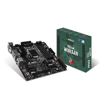 MSI B150M MORTAR Carte mère Micro ATX Socket 1151 Intel B150 Express - SATA 6Gb/s + SATA Express - USB 3.1 - 2x PCI-Express 3.0 16x