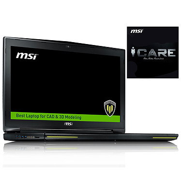 "MSI WT72 2OM-1034FR + Garantie 3 ans avec réparation sur site offerte ! Intel Core i7-4720HQ 8 Go SSD 128 Go + HDD 1 To 17.3"" LED Full HD NVIDIA Quadro K2200M Graveur DVD Wi-Fi AC/Bluetooth Webcam Windows 7 Pro 64 bits (garantie constructeur 3 ans)"
