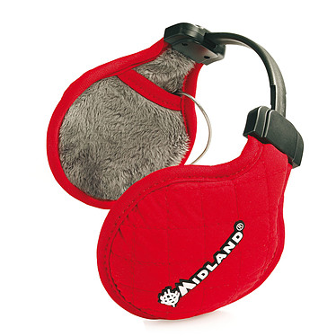 Midland SubZero Hiver Rouge Casque cache-oreille avec télécommande pour smartphone