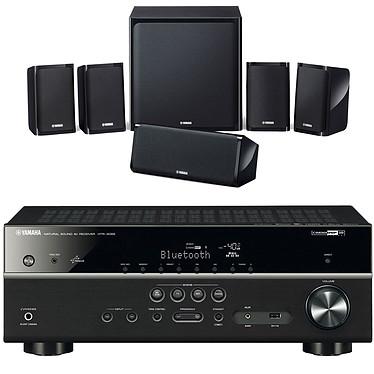 Yamaha HTR-4068 Noir + Yamaha NS-P40 Ampli-tuner Home Cinéma 5.1 3D-Ready avec HDMI 1.4, HDCP 2.2, Ultra HD 4K, Wi-Fi, Bluetooth, DLNA, AirPlay et MusicCast + Pack d'enceintes 5.1