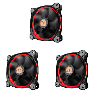 Thermaltake Riing 12 RGB x3 3 ventilateurs de boîtier 120 mm LED RGB 256 couleurs