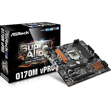ASRock Q170M vPro Carte mère Micro-ATX Socket 1151 Intel Q170 Express - SATA 6Gb/s - M.2 - 2x PCI-Express 3.0 16x