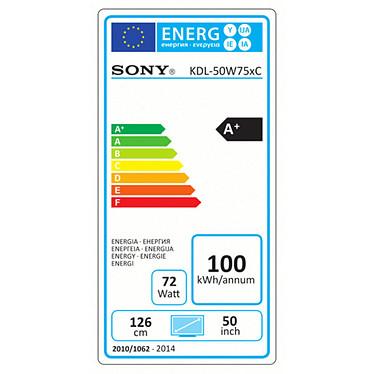Sony KDL-50W755C + Sony HT-CT80 Noir pas cher