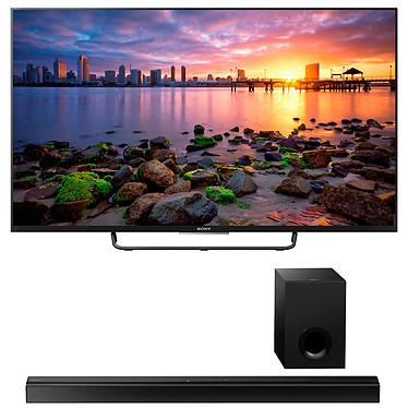 """Sony KDL-50W755C + Sony HT-CT80 Noir Téléviseur LED Full HD 50"""" (127 cm) 16/9 - 1920 x 1080 pixels - Android TV/Wi-Fi/DLNA+ Barre de son 2.1 avec caisson de basses filaire NFC/Bluetooth"""