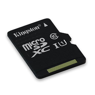 Kingston SDC10G2/64GBSP Carte mémoire microSDXC UHS-I U1 64 Go (garantie à vie par Kingston)