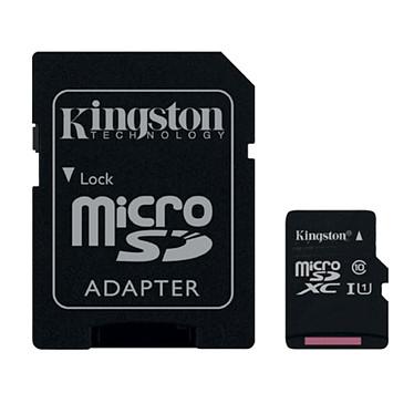 Kingston SDC10G2/8GB + adaptateur SDHC Carte mémoire microSDHC UHS-I U1 8 Go + adaptateur SD (garantie à vie par Kingston)