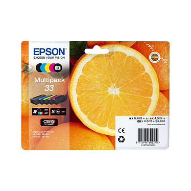 """Epson """"Oranges"""" 33 Multipack (C13T33374011) Pack de 5 cartouches d'encre C/M/J/N/NP"""