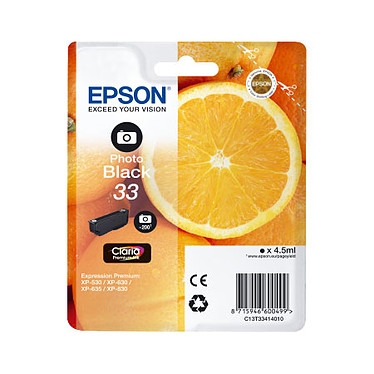 "Epson ""Oranges"" 33 Photo Noir (C13T33414010)"