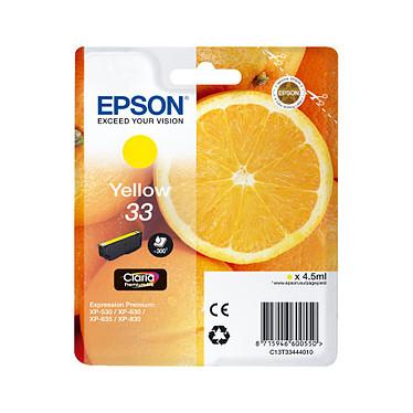 """Epson """"Oranges"""" 33 Jaune (C13T33444010) Cartouche d'encre jaune (4.5 ml)"""