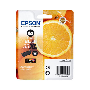 "Epson ""Oranges"" 33 XL Photo Noir (C13T33614010)"