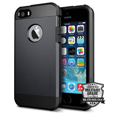 Spigen Case Tough Armor Smooth Black Apple iPhone SE/5/5s Coque de protection pour Apple iPhone SE/5/5s