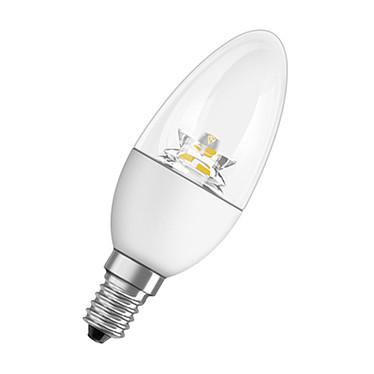 OSRAM Ampoule LED Star Classic flamme E14 6W (40W) A+ Ampoule LED flamme culot E14 clair 6W (40W) 2700K Blanc Chaud