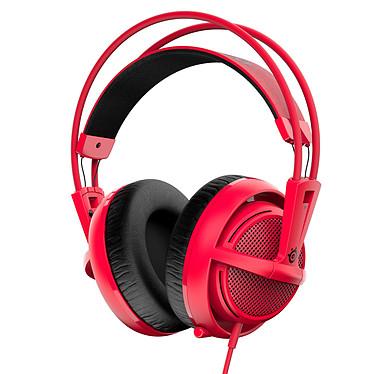 SteelSeries Siberia 200 (Forged Red - rouge) Casque gaming - circum-aural fermé - son Stéréo 2.0 - microphone unidirectionnel rétractable - Jack - compatible PC/Mac/PS4