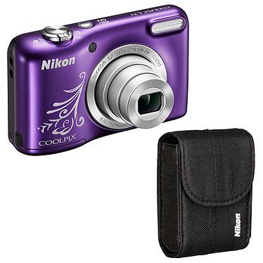 Nikon Coolpix L31 Kit Violet Line Art Appareil photo 16.1 MP - Zoom optique 5x - Vidéo HD + Étui