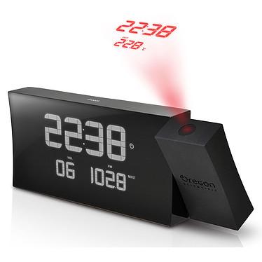 Oregon Scientific RRM222P Noir Radio réveil avec projection de l'heure et températures intérieures/extérieures