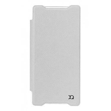 xqisit Etui Flap Cover Adour Blanc Sony Xperia Z5 Etui pour Sony Xperia Z5