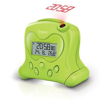 Oregon Scientific RM313P Vert Réveil avec projection de l'heure, températures intérieures et calendrier