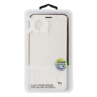 xqisit Etui Flap Cover Adour Blanc Samsung Galaxy S6 Edge+ pas cher
