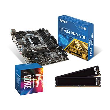 Kit Upgrade PC Core i7 MSI H170M PRO-VDH 8 Go Carte mère Micro ATX Socket 1151 Intel H170 Express + CPU Intel Core i7-6700 (3.4 GHz) + RAM 8 Go DDR4 2133 MHz
