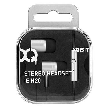 xqisit iE H20 Argent iPhone 6/6s Écouteurs stéréo intra-auriculaires avec télécommande et micro