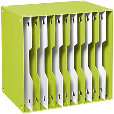 CEP Module CubiCep 12 cases Gloss Anis Bloc de classement 12 compartiments évolutifs 24 x 32 cm ouverts coloris Anis